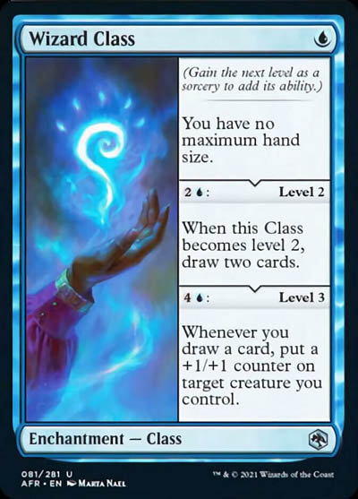 How good is Wizard Class as a new mono blue Enchantment in MTG Adventures in the Forgotten Realms
